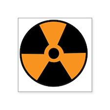 "nuclearsymbol Square Sticker 3"" x 3"""