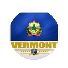 "Vermont (Flag 10) 3.5"" Button"