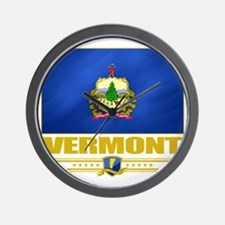 Vermont (Flag 10) Wall Clock