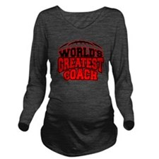 Worlds Greatest Foot Long Sleeve Maternity T-Shirt