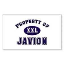 Property of javion Rectangle Decal