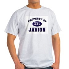 Property of javion Ash Grey T-Shirt