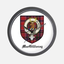 MacGillivray Clan Crest Tartan Wall Clock