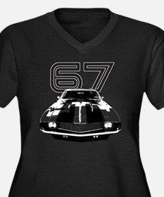 Camaro 1967  Women's Plus Size Dark V-Neck T-Shirt