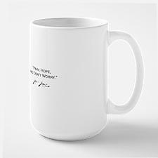 Pio White Mug w Sig - Pray Hope Mug