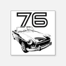 "MG 1976 copy Square Sticker 3"" x 3"""