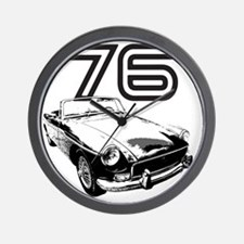 MG 1976 copy Wall Clock