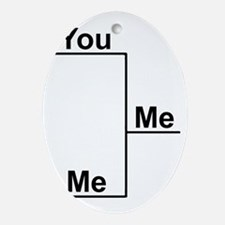 You Me bracket-1 Oval Ornament