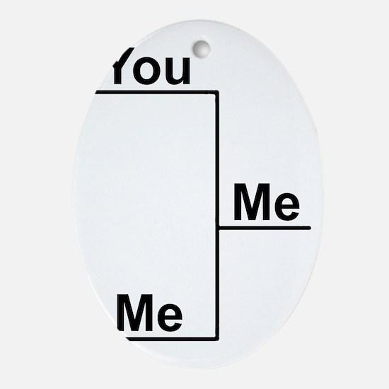 You Me bracket-1 Oval Ornament