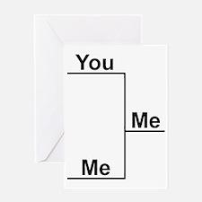 You Me bracket-1 Greeting Card