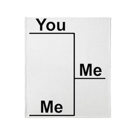 You Me bracket-1 Throw Blanket