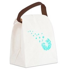 Dandelion aqua Canvas Lunch Bag