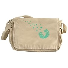 Dandelion aqua Messenger Bag