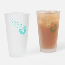 Dandelion aqua Drinking Glass