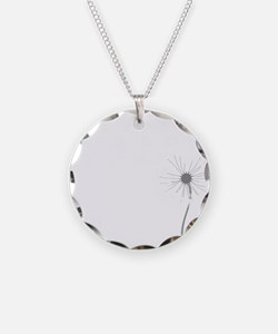 Dandelion whitegray Necklace