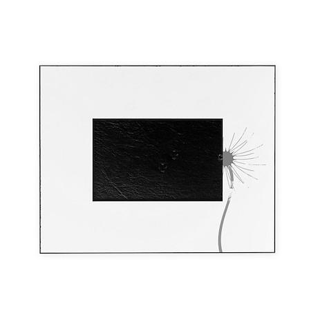 Dandelion whitegray Picture Frame
