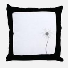 Dandelion whitegray Throw Pillow