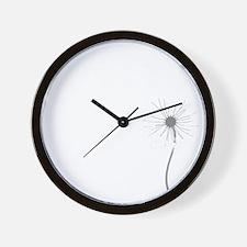 Dandelion whitegray Wall Clock