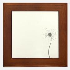 Dandelion whitegray Framed Tile