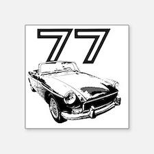 "MG 1977 copy Square Sticker 3"" x 3"""