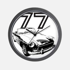MG 1977 copy Wall Clock