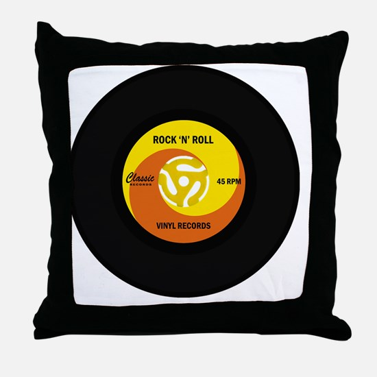 rocknrollrecord Throw Pillow