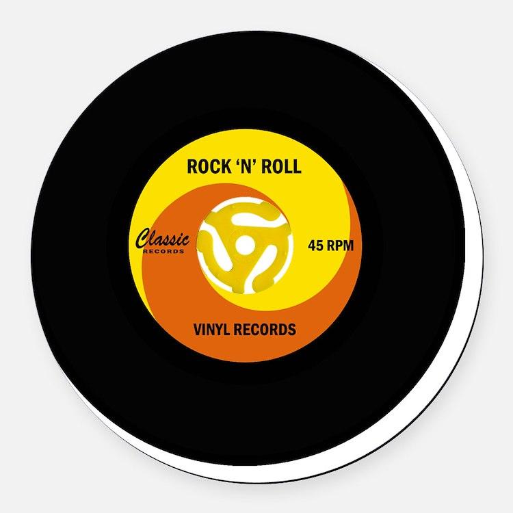 rocknrollrecord Round Car Magnet