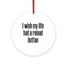 reload-button3 Round Ornament