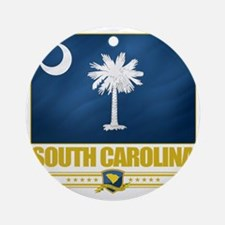 South Carolina (Flag 10) Round Ornament