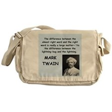 Mark Twain Quote Messenger Bag