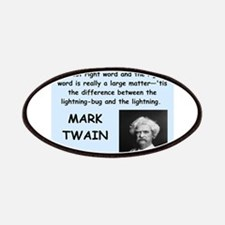Mark Twain Quote Patches