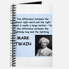 Mark Twain Quote Journal