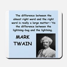 Mark Twain Quote Mousepad