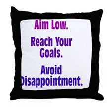 aim-low_tall1 Throw Pillow