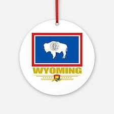 Wyoming (Flag 10) Round Ornament