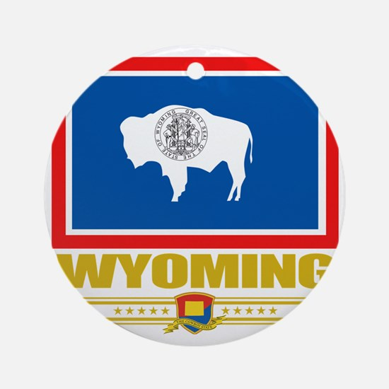 Wyoming (Flag 10) Round Ornament