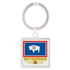 Wyoming (Flag 10) Square Keychain