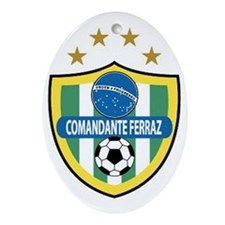 *Comandante-Ferraz-FC-Brazil-shield Oval Ornament