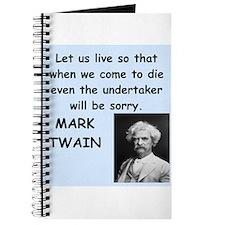 Mark Twain Quote Journal