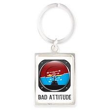 BadAttitude Portrait Keychain