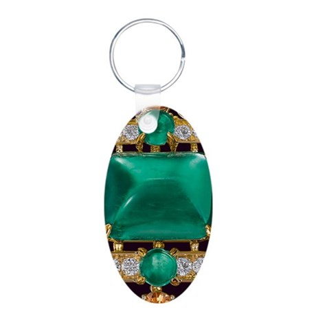 emerald_barcelet_469_iphone Aluminum Oval Keychain
