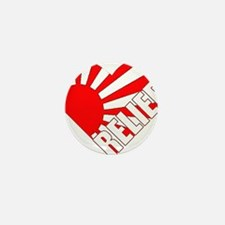 japan relief heart Mini Button