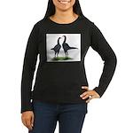 Blue Modern Games Women's Long Sleeve Dark T-Shirt