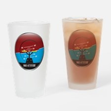 BadAttitude_circle Drinking Glass