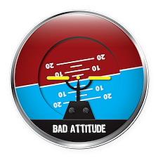 BadAttitude_circle Round Car Magnet