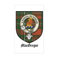 MacGregor Clan Crest Tartan Rectangle Decal