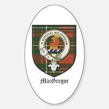 MacGregor Clan Crest Tartan Oval Decal