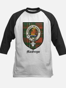MacGregor Clan Crest Tartan Kids Baseball Jersey