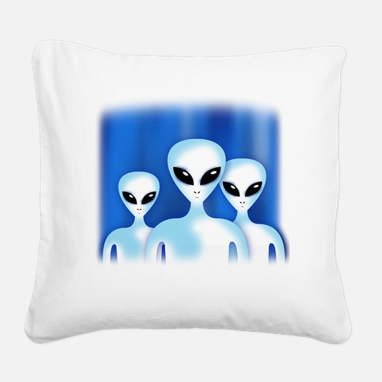 GREY ALIEN Square Canvas Pillow