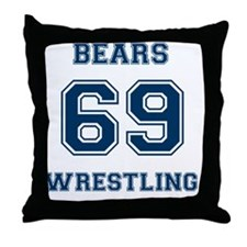 Bears Wrestling Throw Pillow